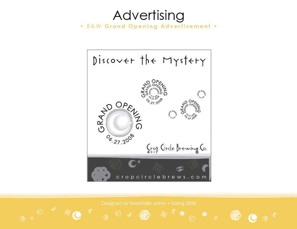 CropCircleBrewingCo_Identity Advertising B&W