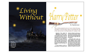 Harry Potter Magazine Spread