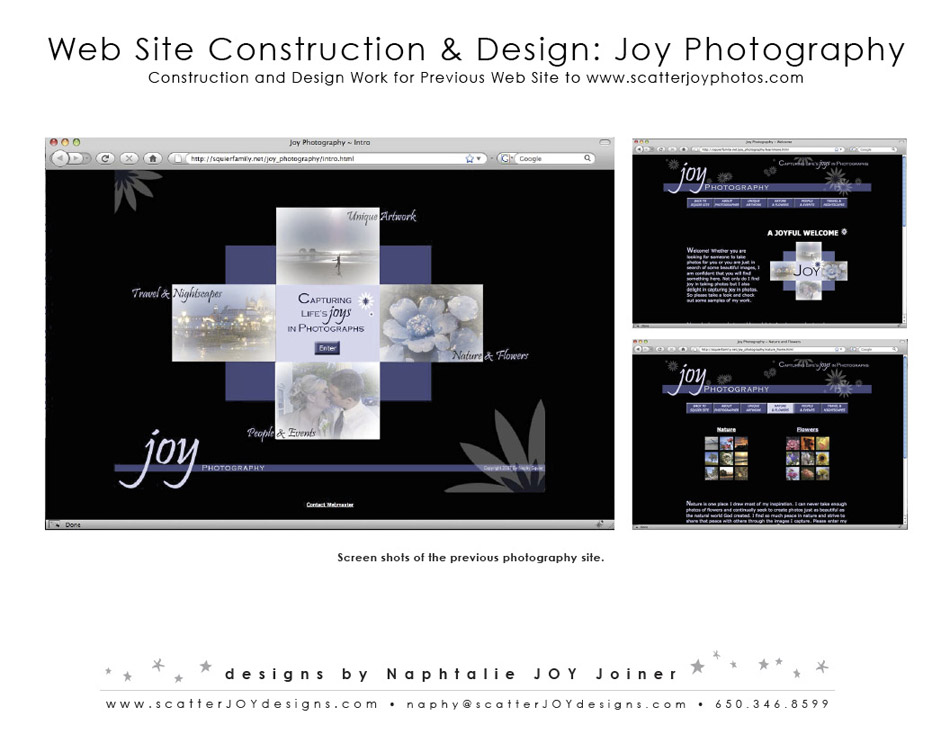 Joy Photography Website