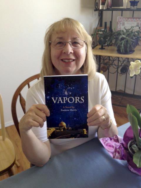 Paulette Harris holding Vapors