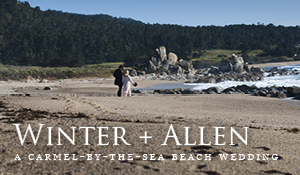 Winter + Allen's Beautiful Carmel Beach Wedding