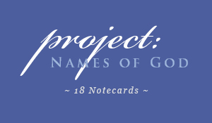 Hebrew Names of God Notecards