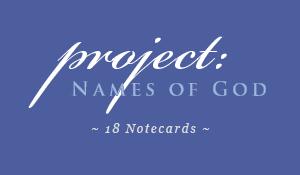 Hebrew Names of God Notecards