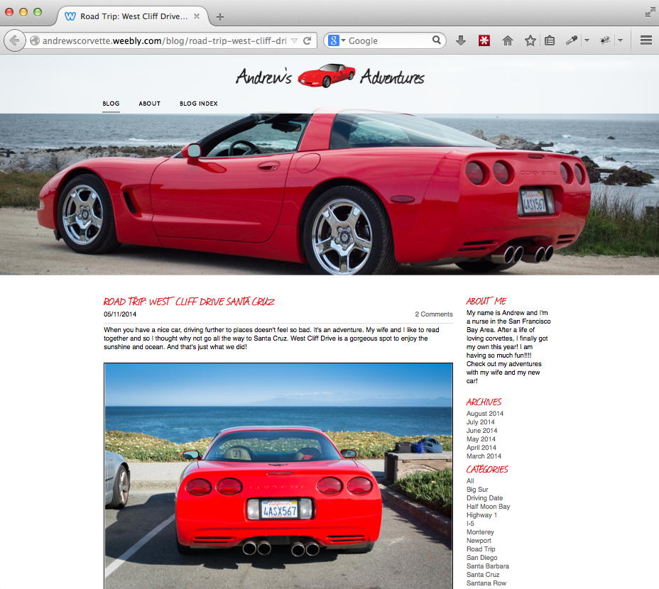 Andrew's Corvette Home